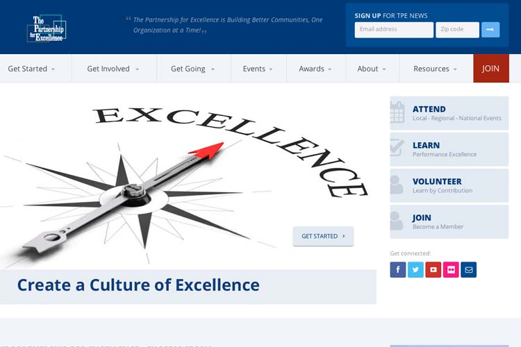Website - The Partnership for Excellence